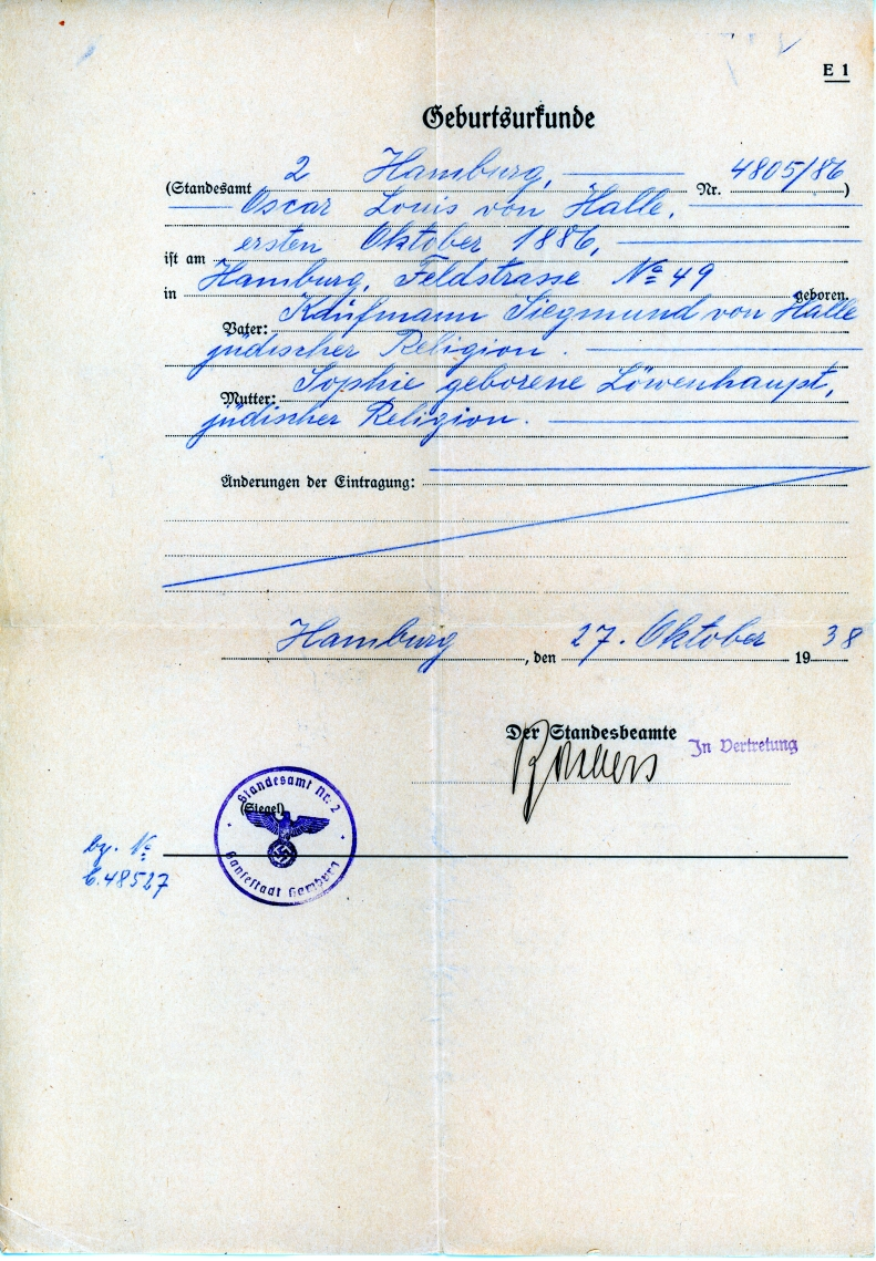 Oscars new birth certificate germany 1938 snapshots of our past share this aiddatafo Choice Image